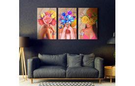 Девушки цветы арт 2