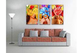 Девушки цветы арт 3